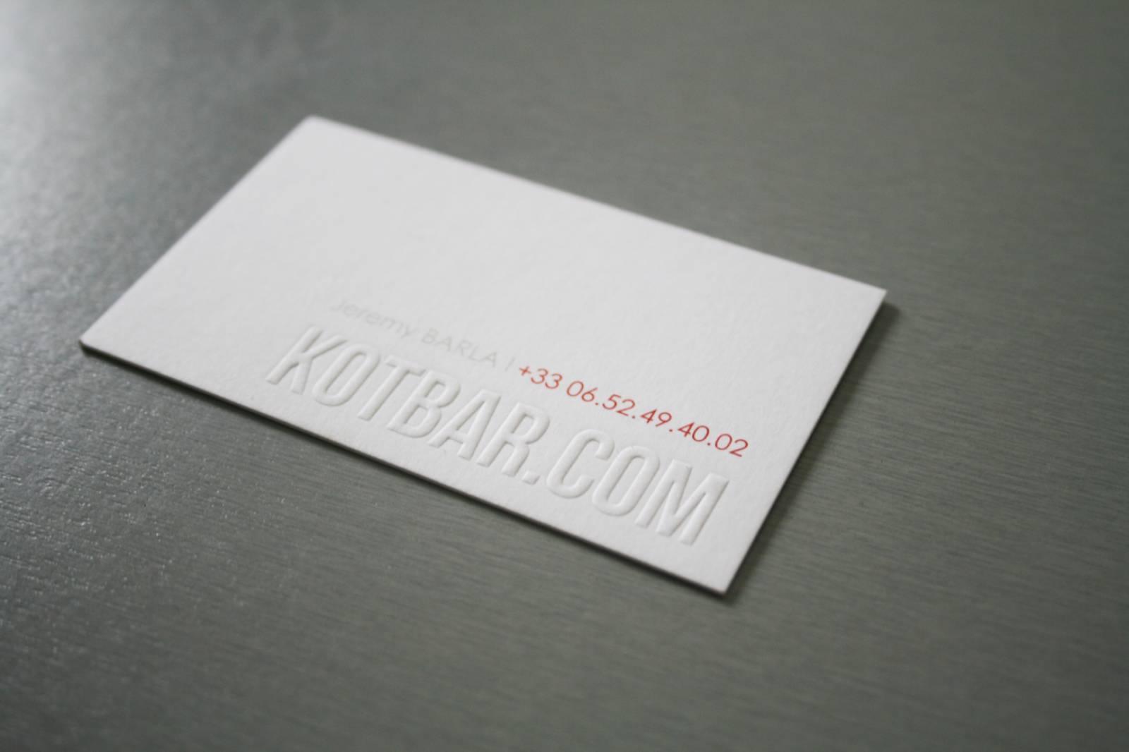 Carte Coton 600r Blanche Avec Dbossage 3D Pour Notaire Rouen 76