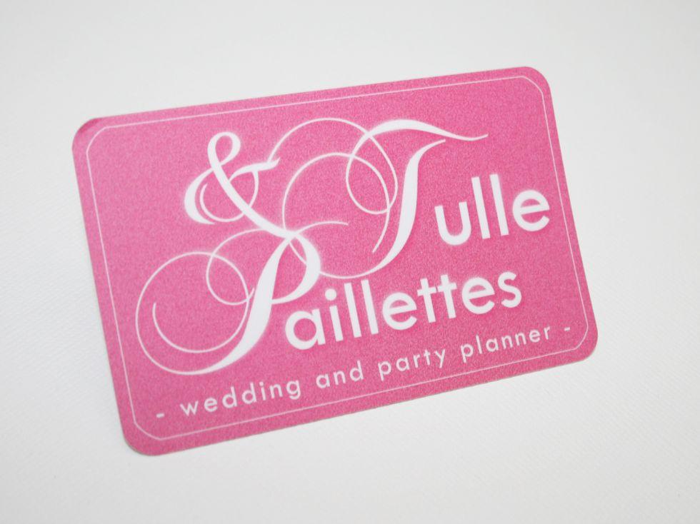 TULLES Et PAILLETTES Cartes De Visite Originale Papier Avec Bords Arrondis Pour Wedding Planner A