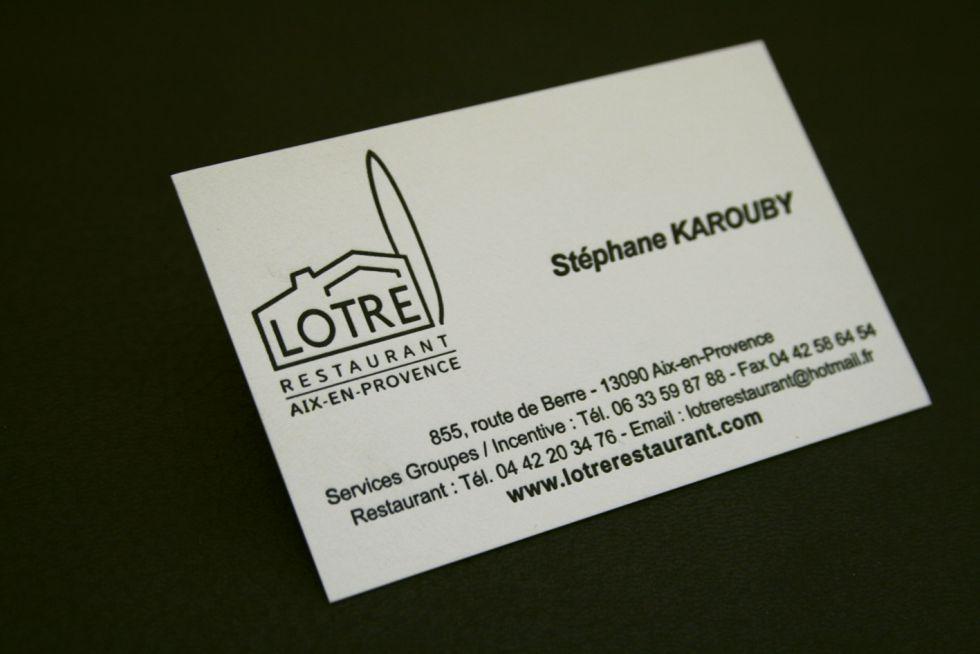 LOTRE Stphane Karouby Directeur Des Tablissement Choisi Une Carte Sobre Et Sophistique Sur