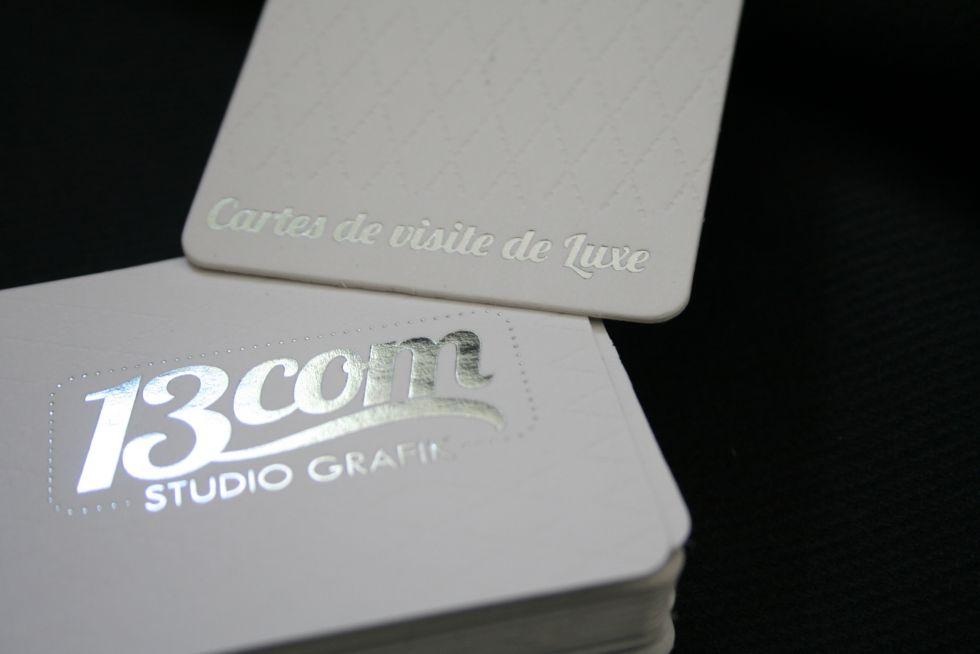 Carte De Visite Haut Gamme 600gr Blanc Nice 06