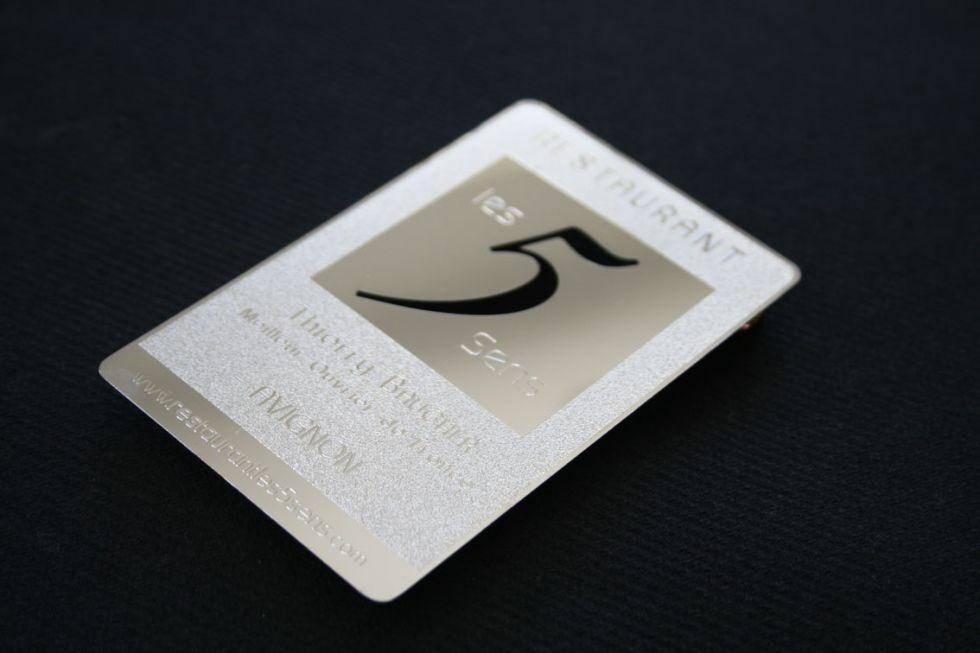 Carte Design En Acier Effet Miroir Personnalise