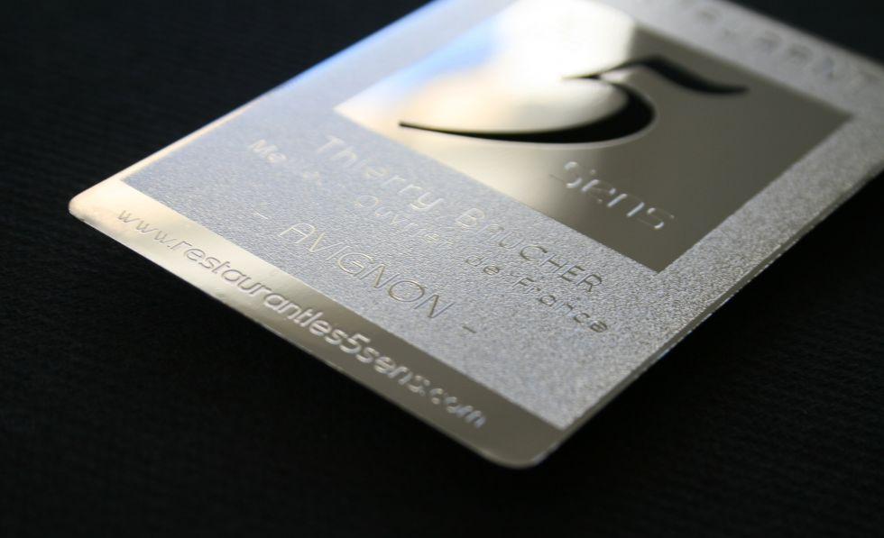 Carte De Visite Luxe 5sens Personnalisee A Avignon 84 Metal