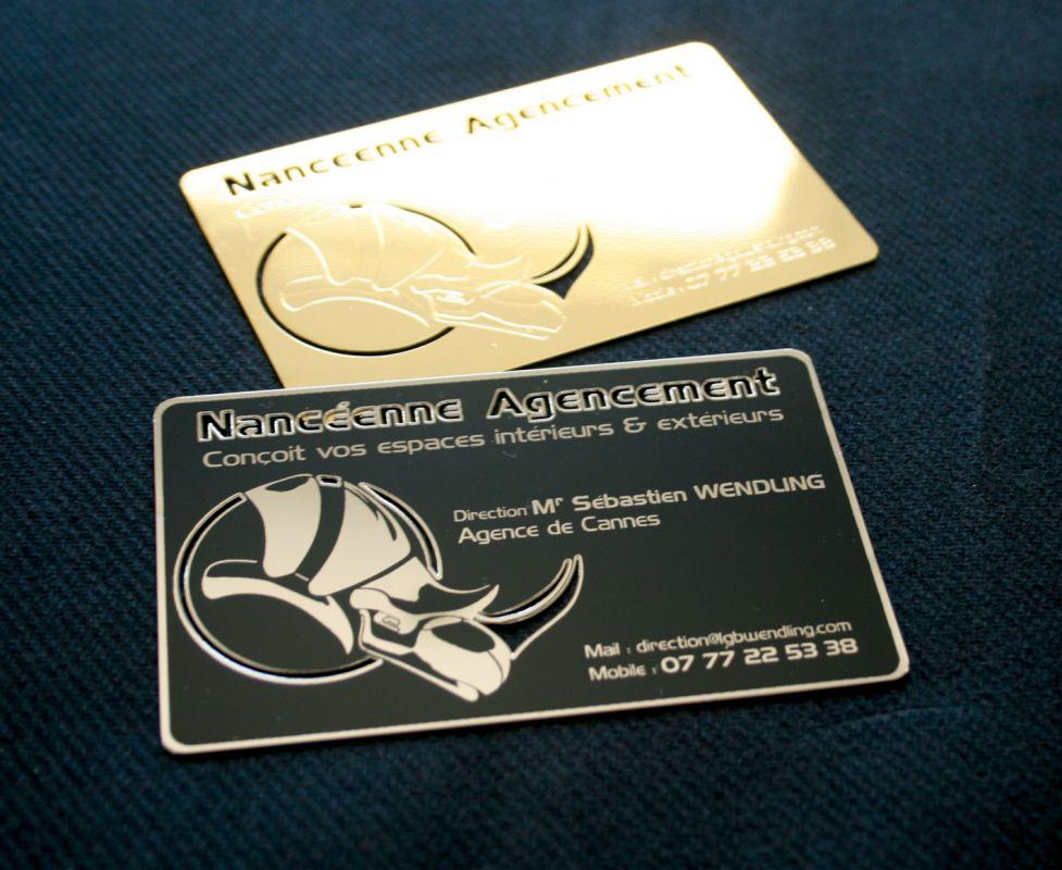 Argent En Metal Brillant Carte De Visite Luxe Couleur Or A Cannes 06