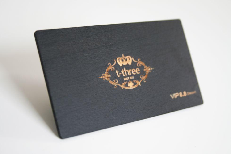 CARTE DE VISITE EN BOIS Coloris Noir Avec Gravure