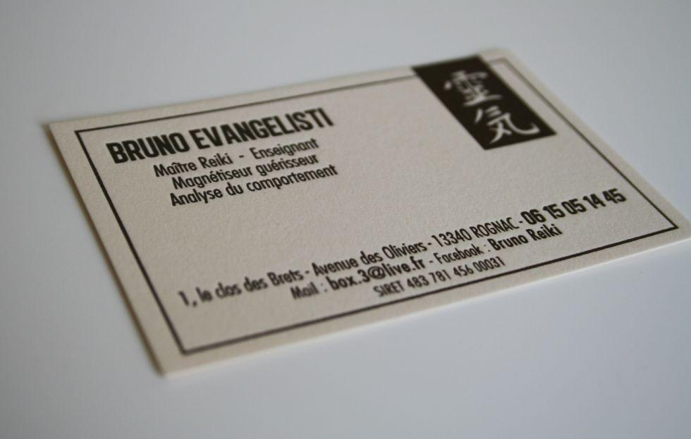 Carte De Visite Letterpress Sur Papier Creation Originale Pour Magnetiseur A Velaux 13