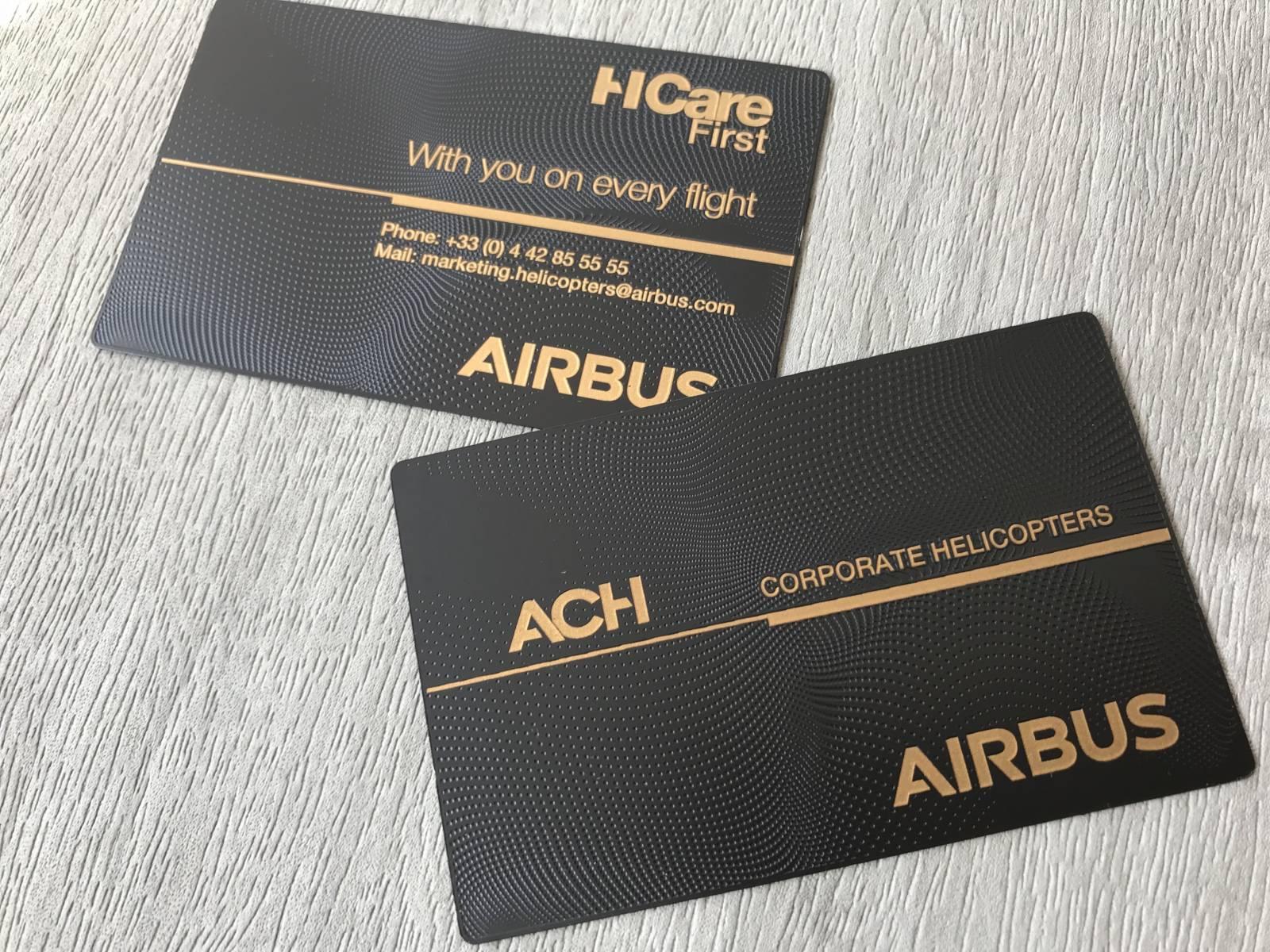 Carte De Visite En Acier Design Metal Haut Gamme Pour AIRBUS A Lyon 69