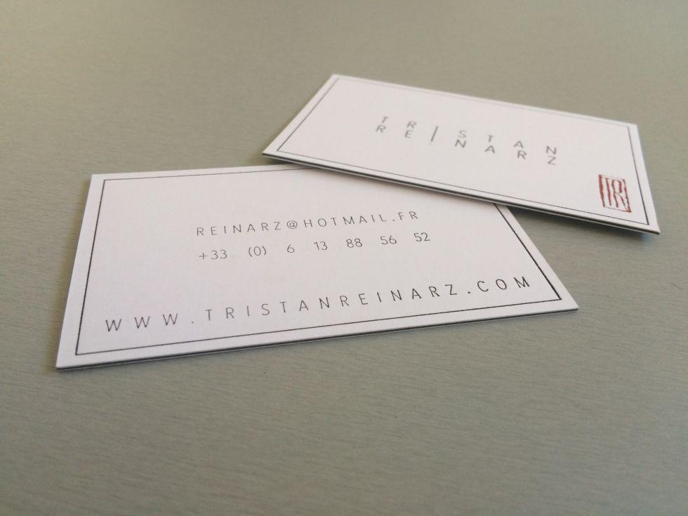 Carte Coton BICOLOR 600gr Letterpress Pour Designer Sainte Maxime 83
