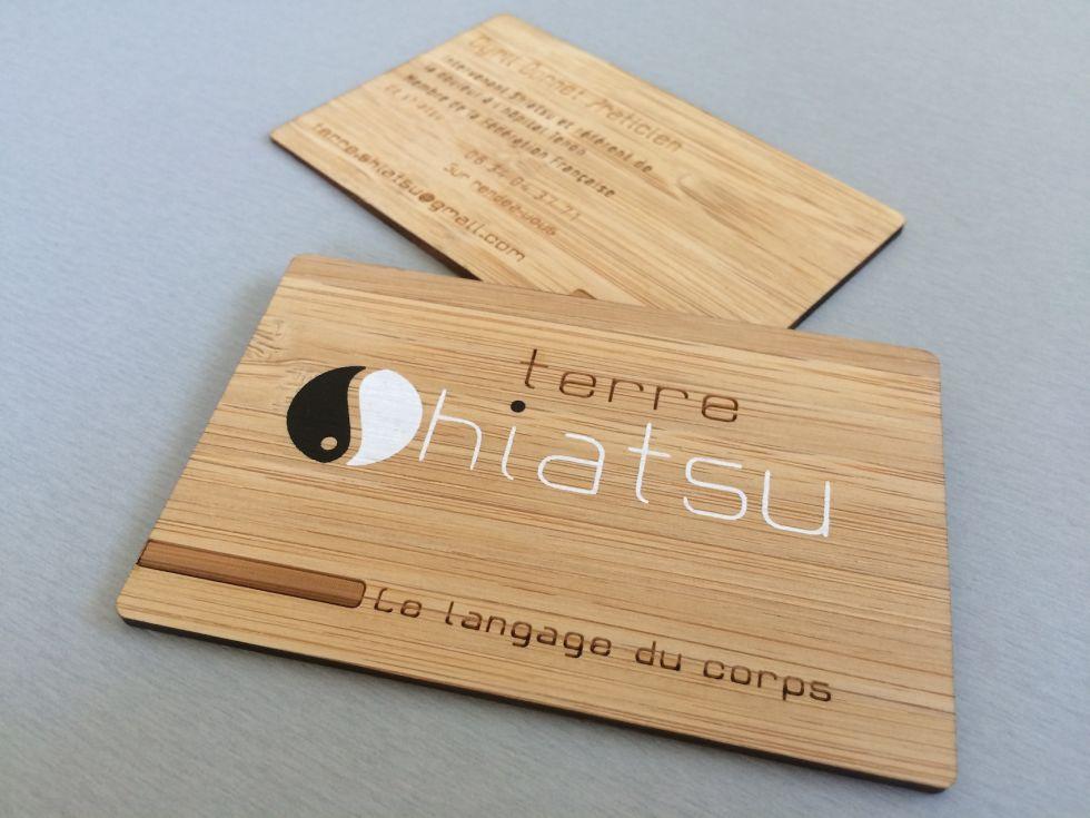 Carte De Visite En Bois Veritable Pour Professionnel A Nantes