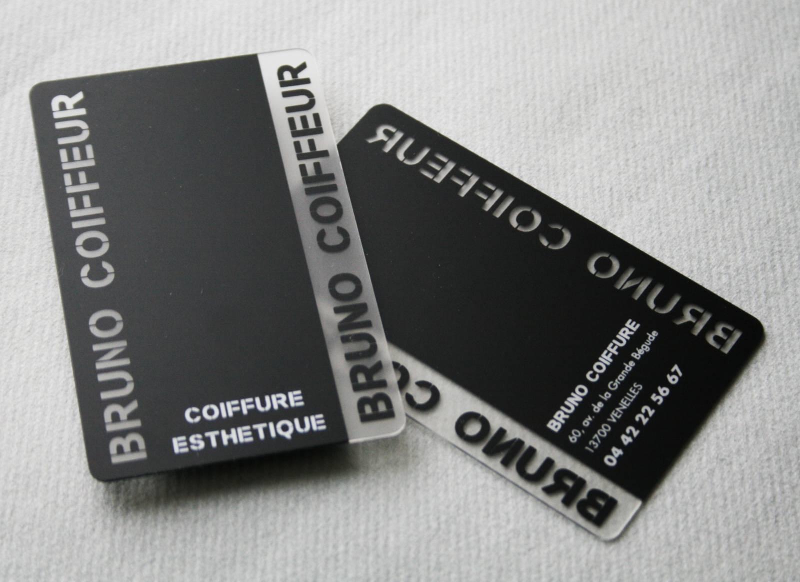 Carte PVC Transparente Opaque Originale Pour Coiffeur A Venelles 13